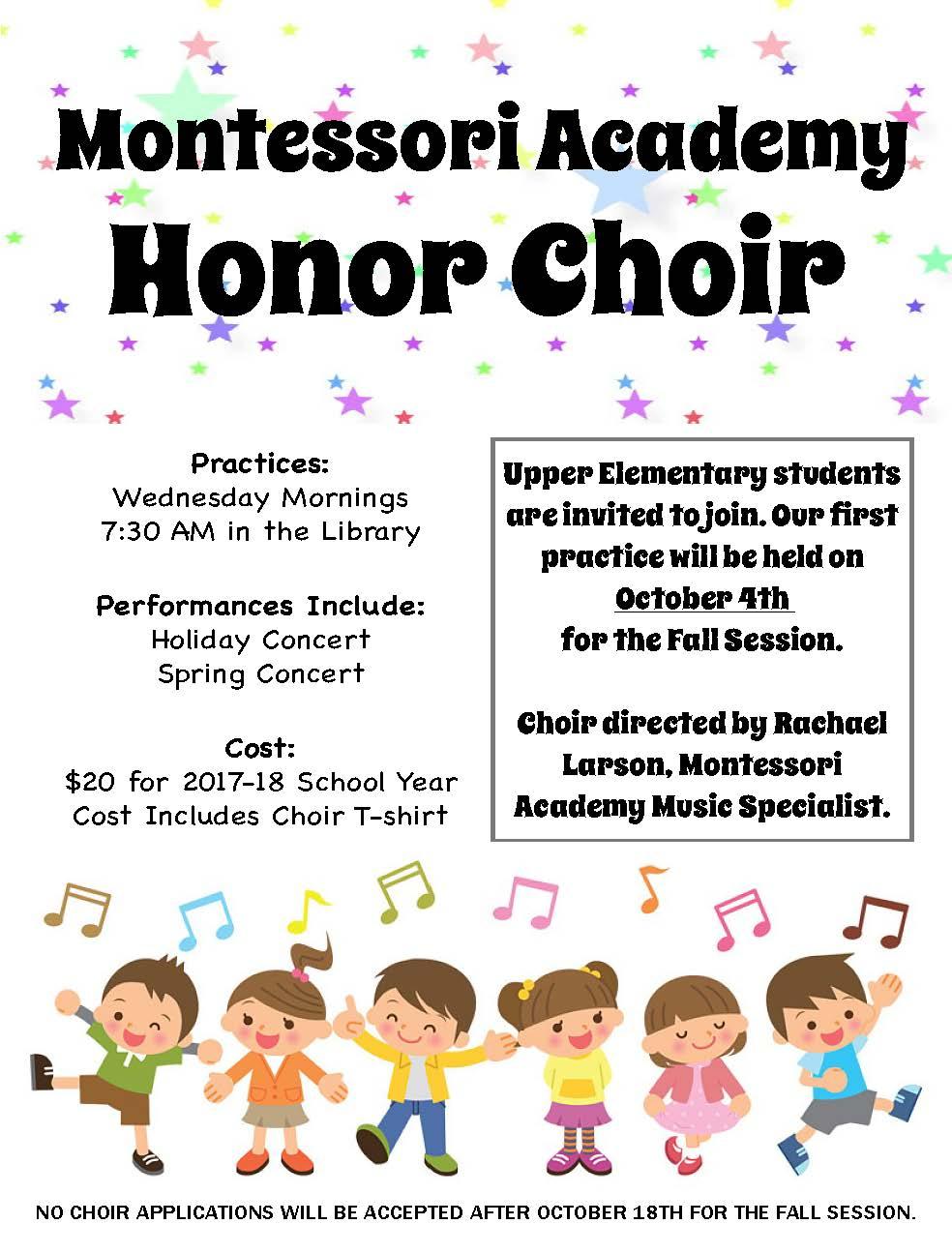 Honor Choir Poster